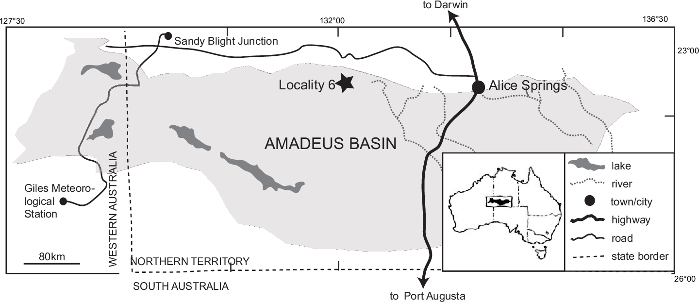 Map Of Young Australia.Figure 1 From A New Genus Of Lungfish From The Givetian Middle