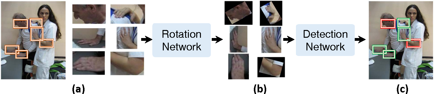 Figure 1 for Joint Hand Detection and Rotation Estimation by Using CNN