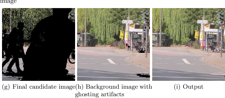 Figure 3 for Superpixel-Based Background Recovery from Multiple Images