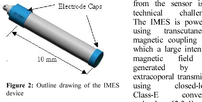 Figure 2: Outline drawing of the IMES device