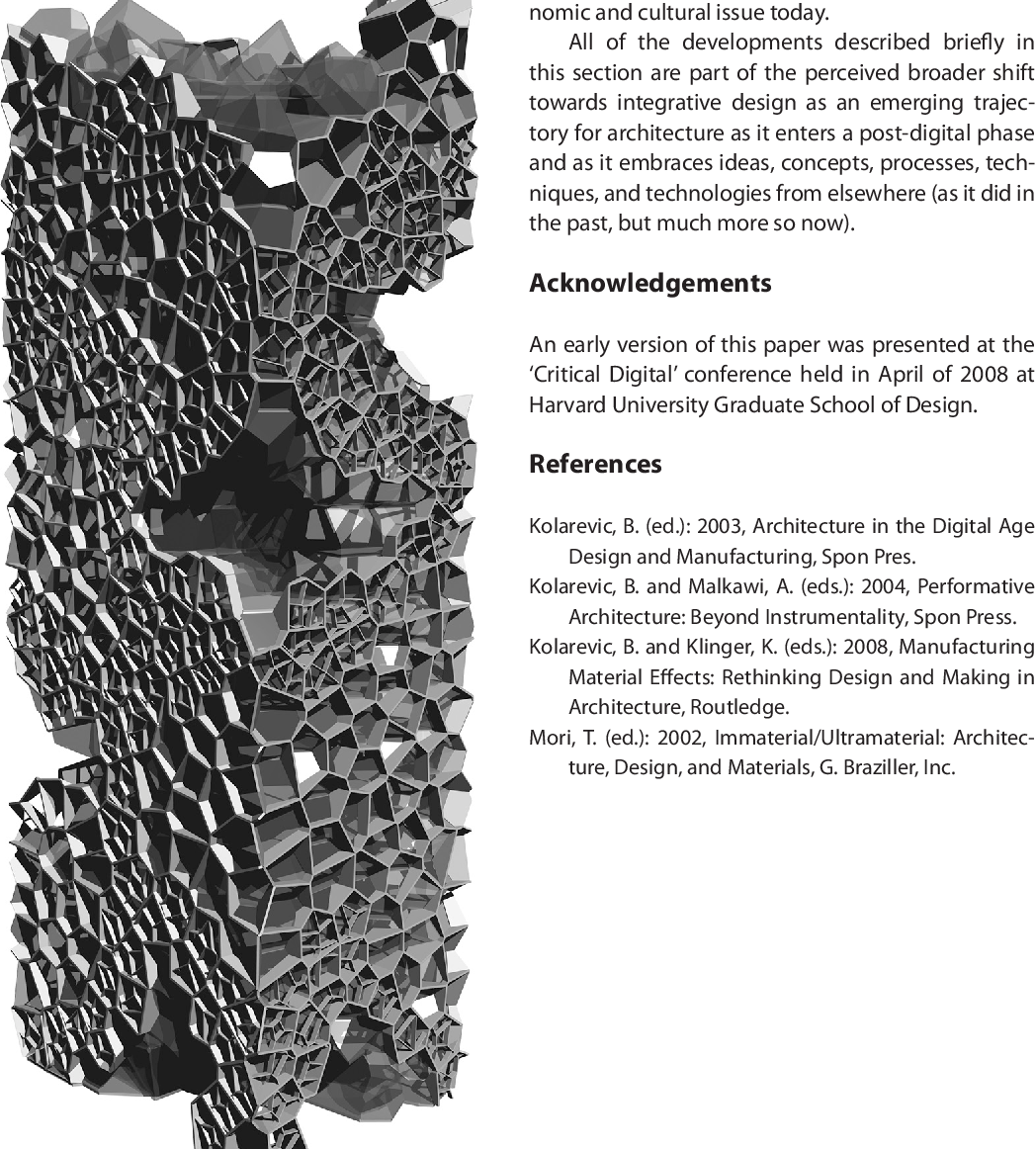 PDF] Architecture in the Post-Digital Age: Towards
