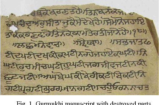 Recognition based classification of gurmukhi manuscripts