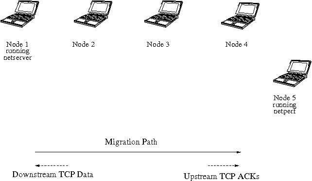 Figure 4. Wireless Ad Hoc Network Topology