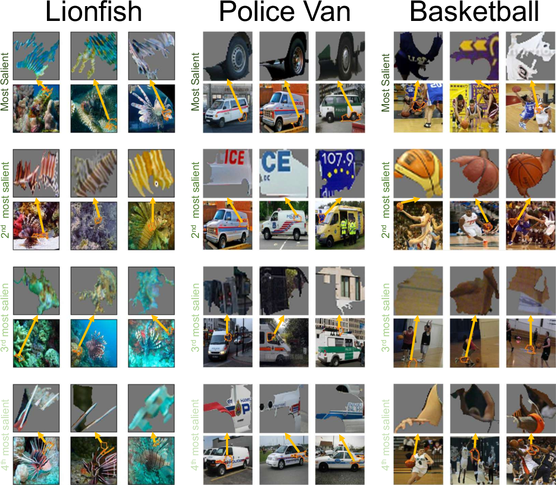 Figure 2 for Automating Interpretability: Discovering and Testing Visual Concepts Learned by Neural Networks
