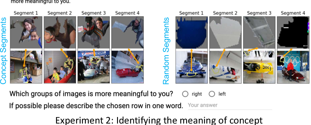 Figure 3 for Automating Interpretability: Discovering and Testing Visual Concepts Learned by Neural Networks