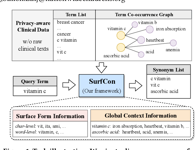 Figure 1 for SurfCon: Synonym Discovery on Privacy-Aware Clinical Data