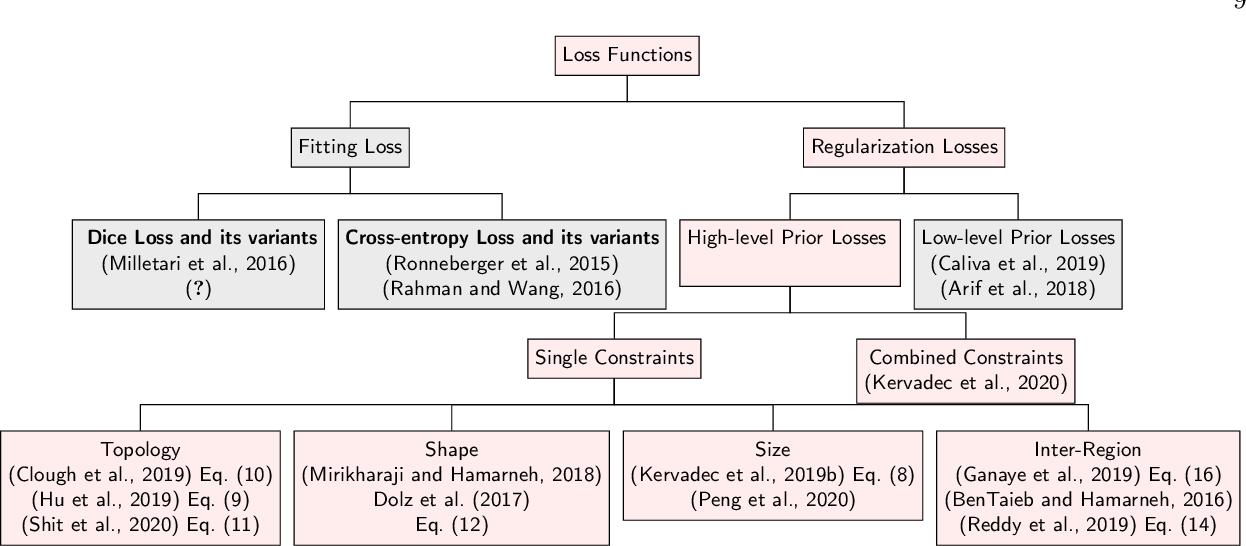 Figure 2 for High-level Prior-based Loss Functions for Medical Image Segmentation: A Survey