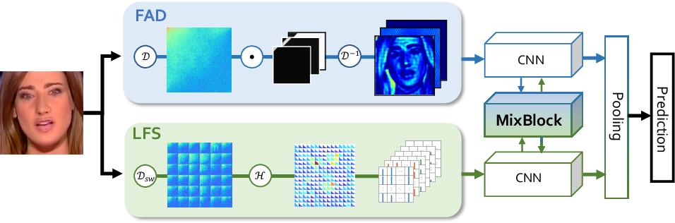 Figure 3 for Thinking in Frequency: Face Forgery Detection by Mining Frequency-aware Clues