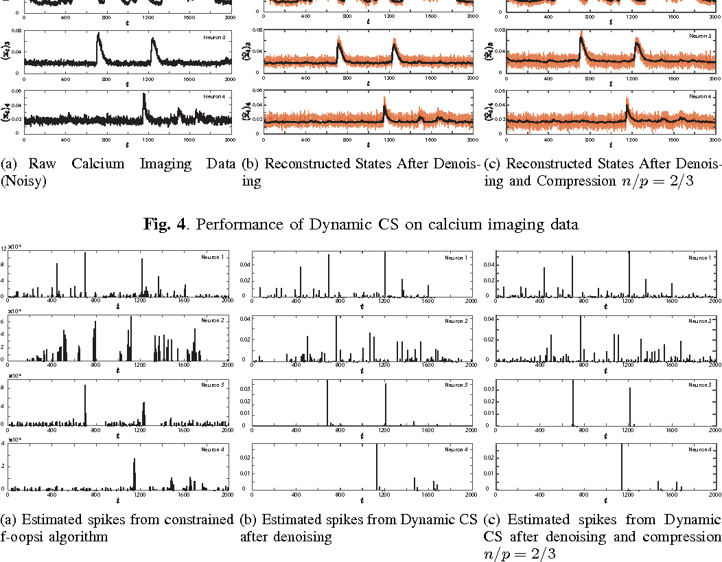 Figure 3 for Efficient Estimation of Compressible State-Space Models with Application to Calcium Signal Deconvolution