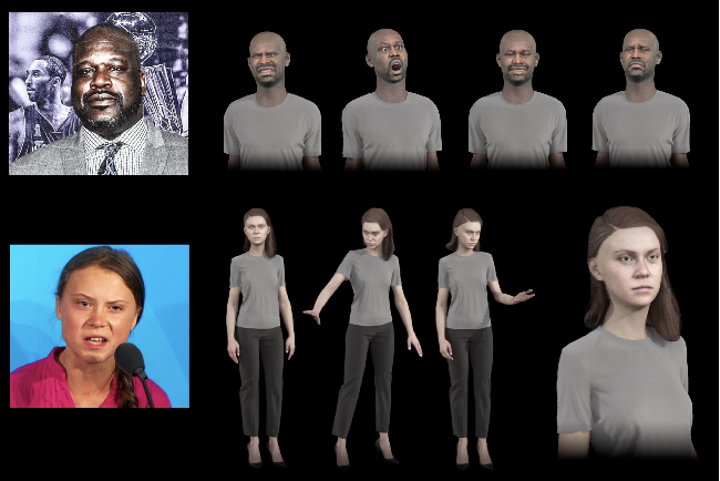 Figure 2 for Normalized Avatar Synthesis Using StyleGAN and Perceptual Refinement