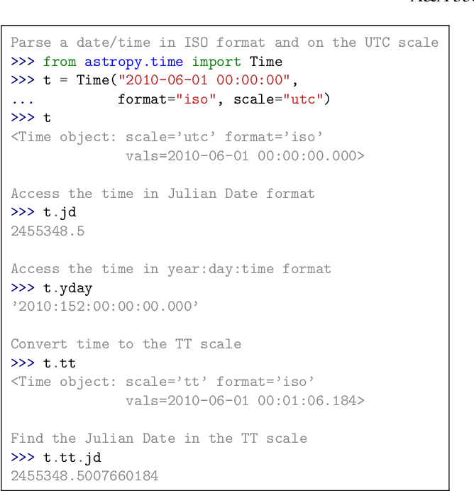 Figure 6 from Astropy: A community Python package for