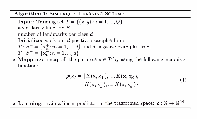 A Learning Scheme Based On Similarity Functions For Affective Common