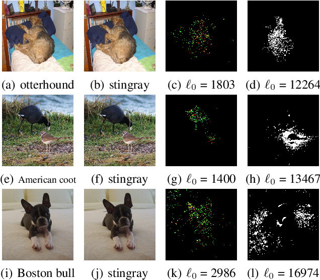 Figure 1 for Sparse and Imperceptible Adversarial Attack via a Homotopy Algorithm