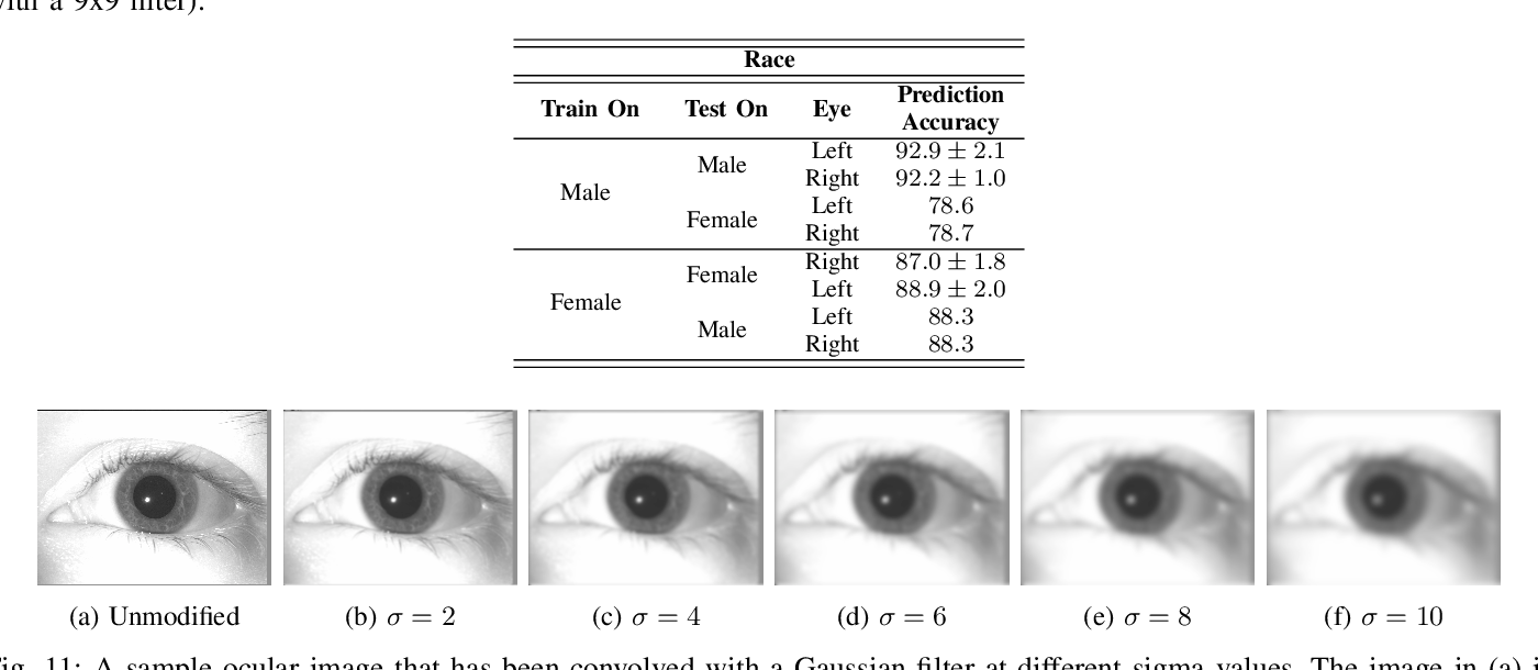 Figure 3 for Predicting Gender and Race from Near Infrared Iris and Periocular Images