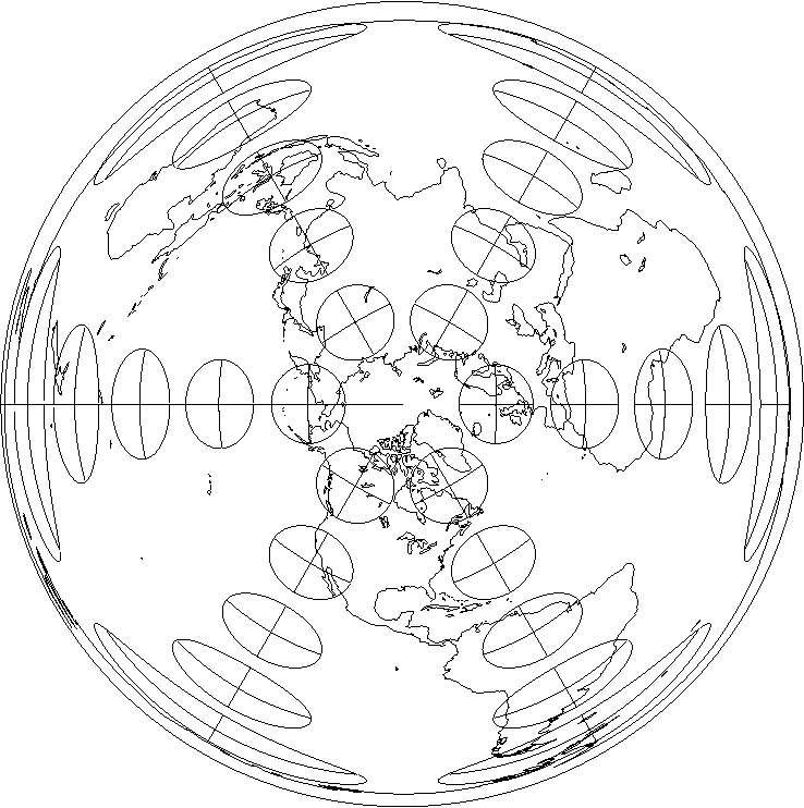 Figure 13 From Flexion And Skewness In Map Projections Of The Earth