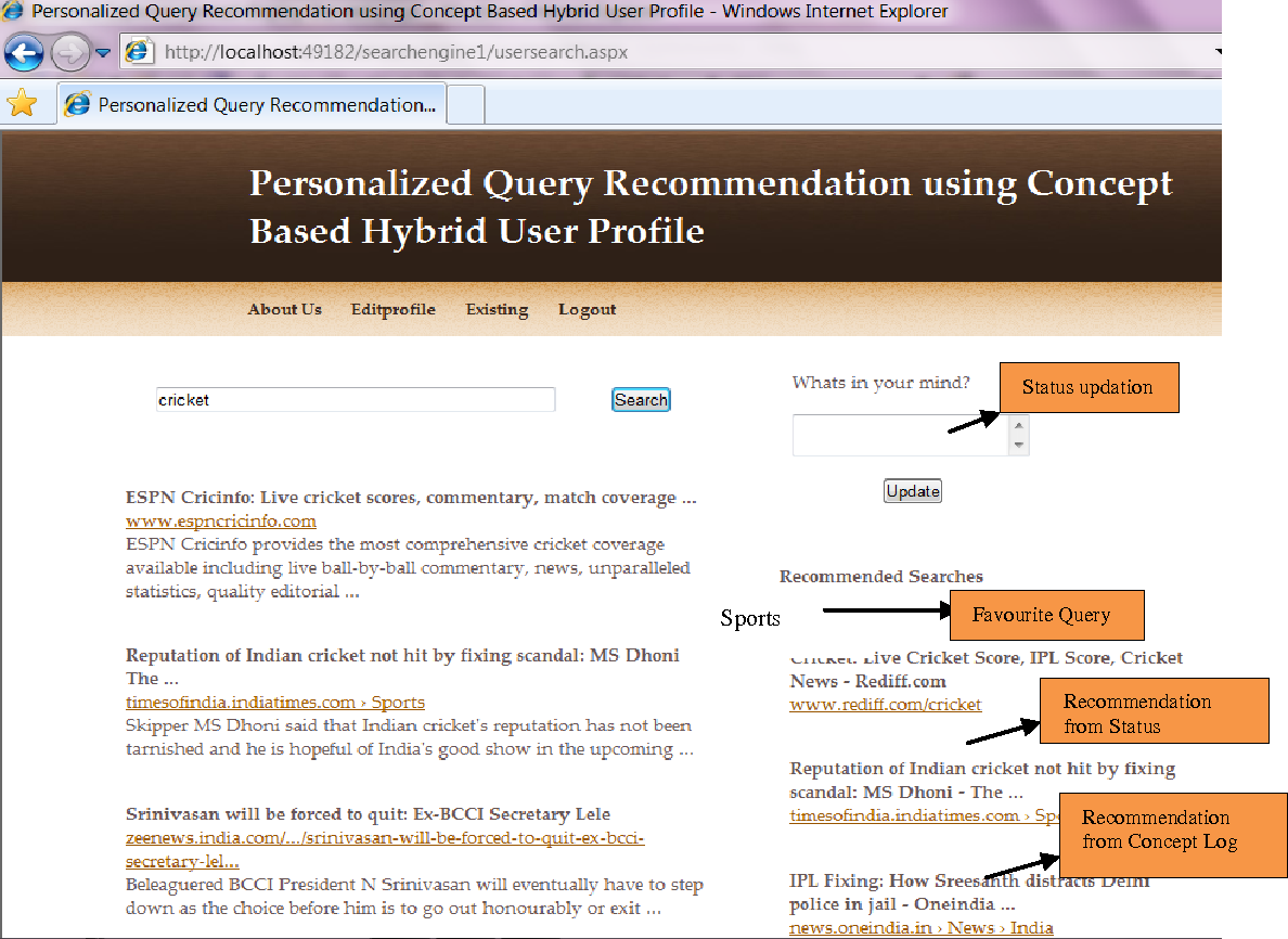 PDF] Search Query Recommendations using Hybrid User Profile