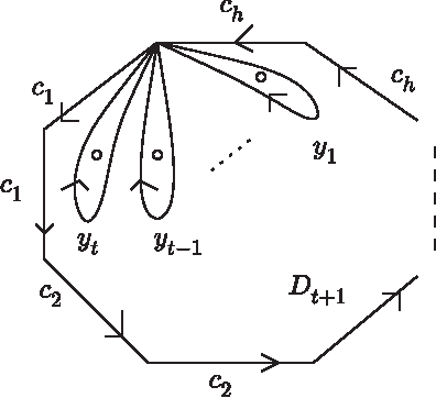 Figure 1. A non-orientable surface of genus h.