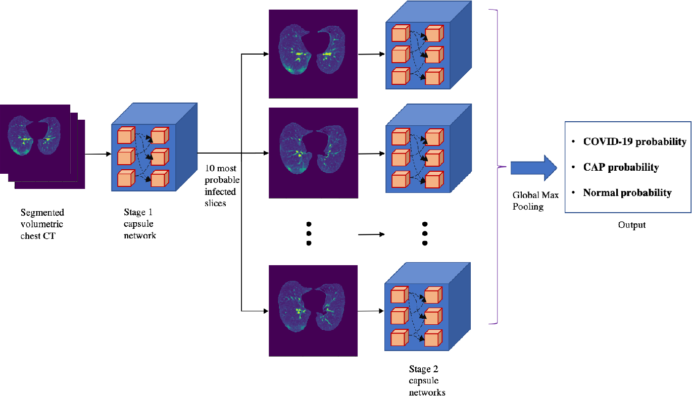 Figure 2 for Human-level COVID-19 Diagnosis from Low-dose CT Scans Using a Two-stage Time-distributed Capsule Network