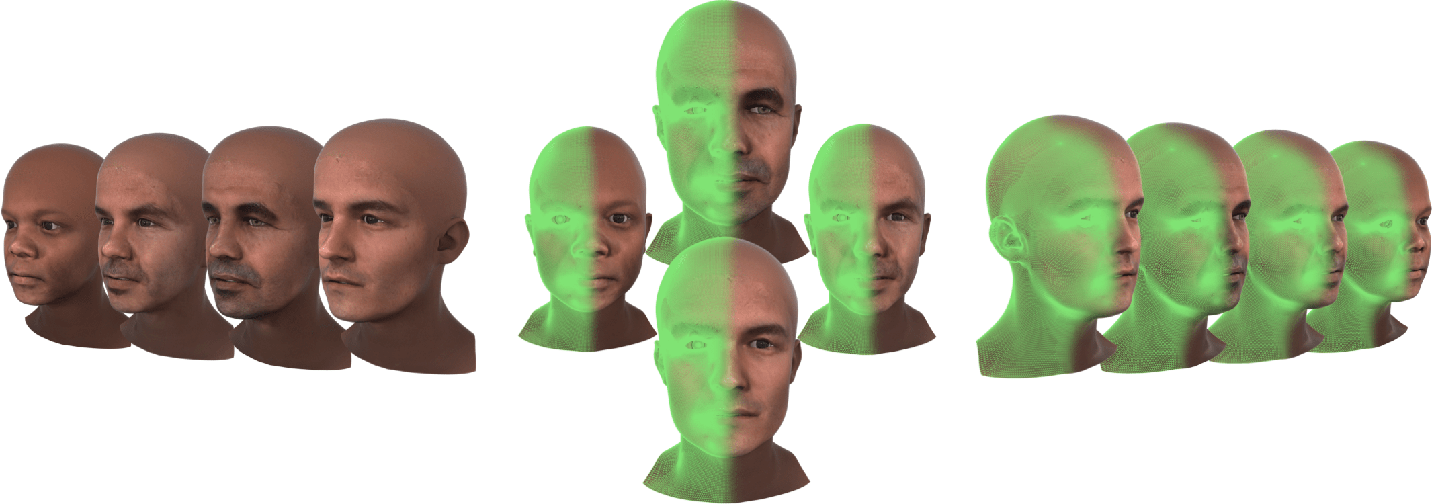 Figure 1 for Towards a complete 3D morphable model of the human head