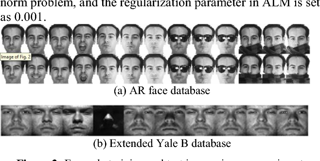 Figure 2 for Collaborative representation-based robust face recognition by discriminative low-rank representation