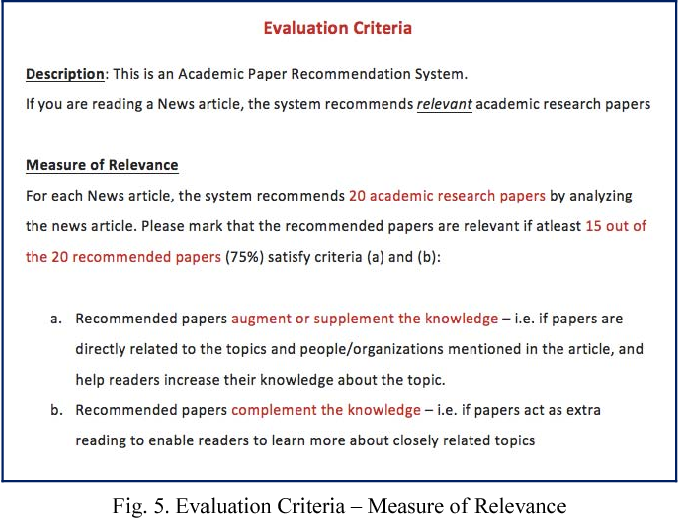 recommendation for a research paper