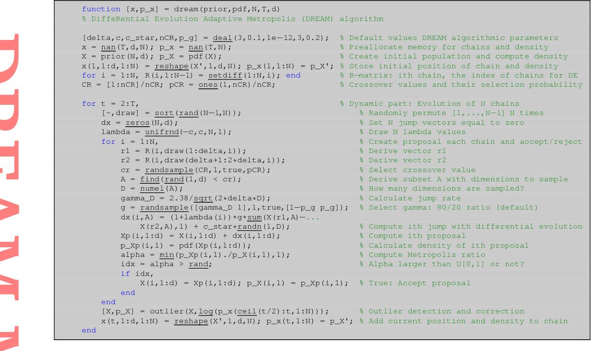 Figure 9 from Markov chain Monte Carlo simulation using the DREAM