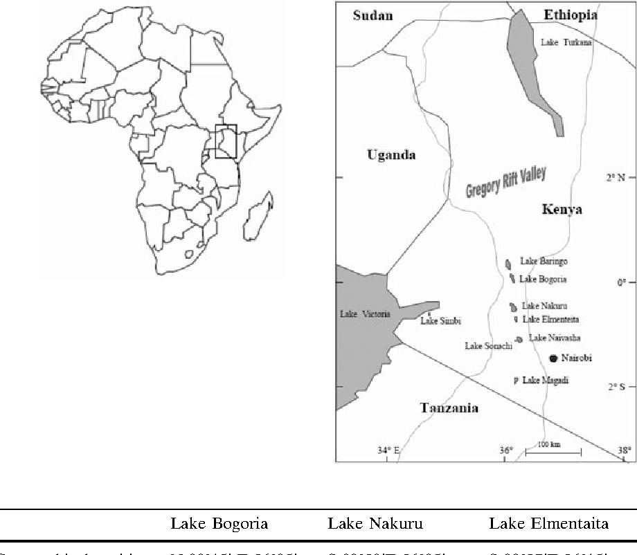 Temporal Trends Of Ion Contents And Nutrients In Three Kenyan Rift