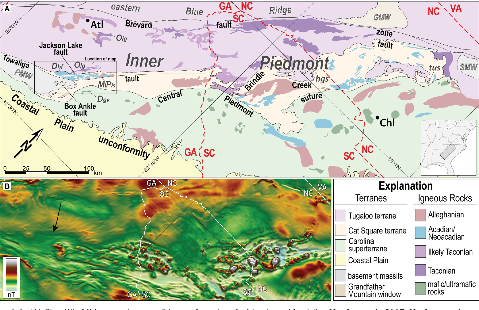 Geologic Map Of Georgia.Geologic Investigations In The Central Georgia Inner Piedmont And