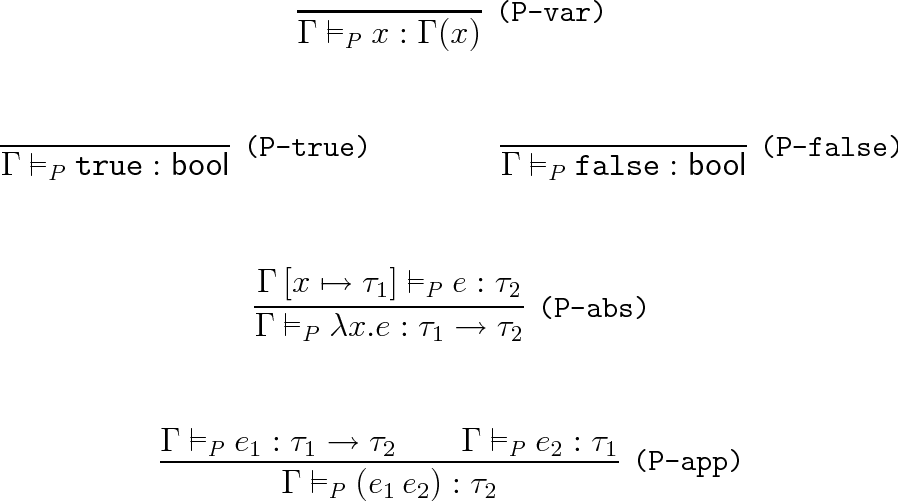 Figure 2.2: Pure Functional Language (λP ): Type-checking Lemmas
