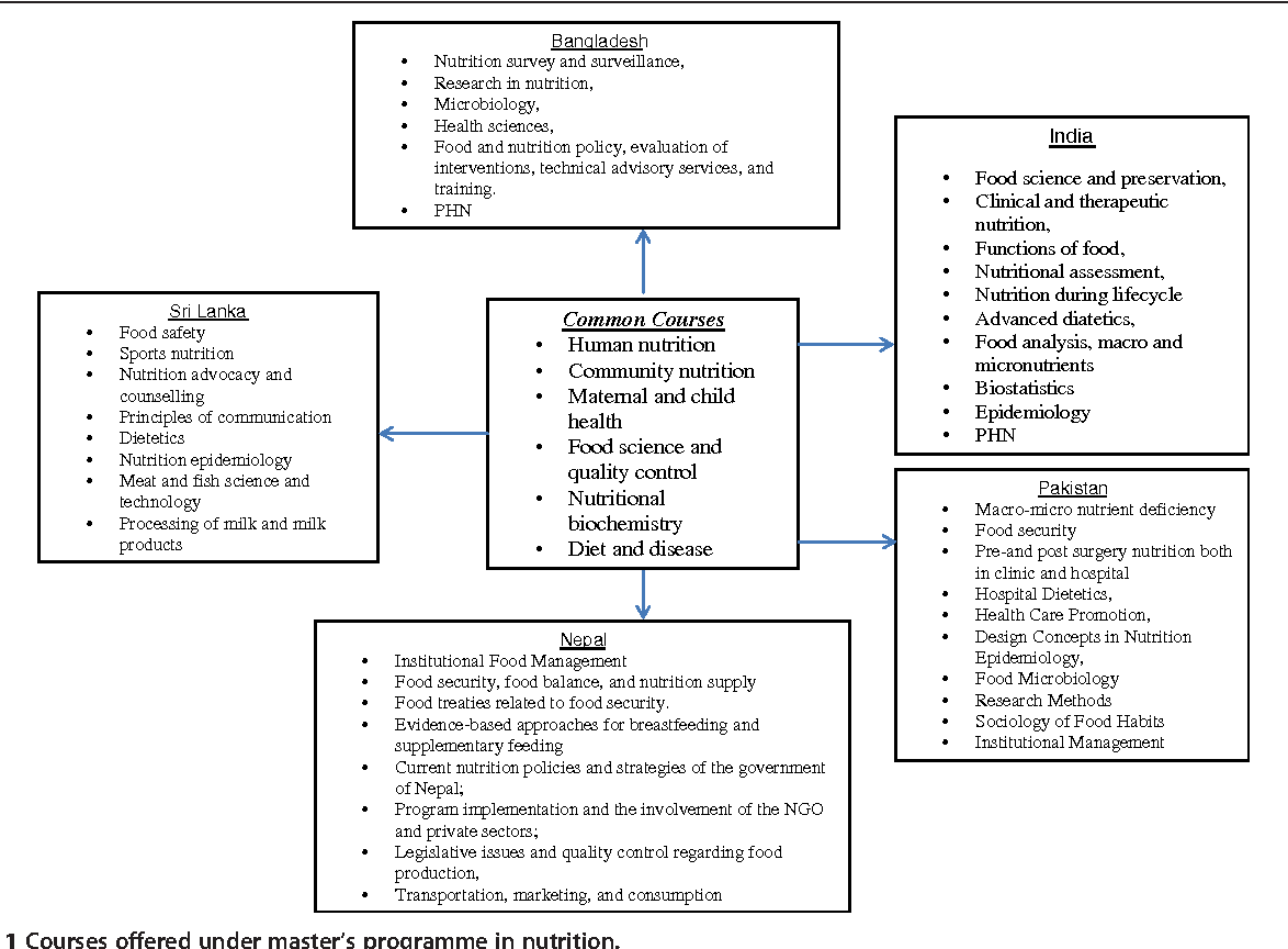 Figure 1 from Postgraduate education in nutrition in south Asia: a