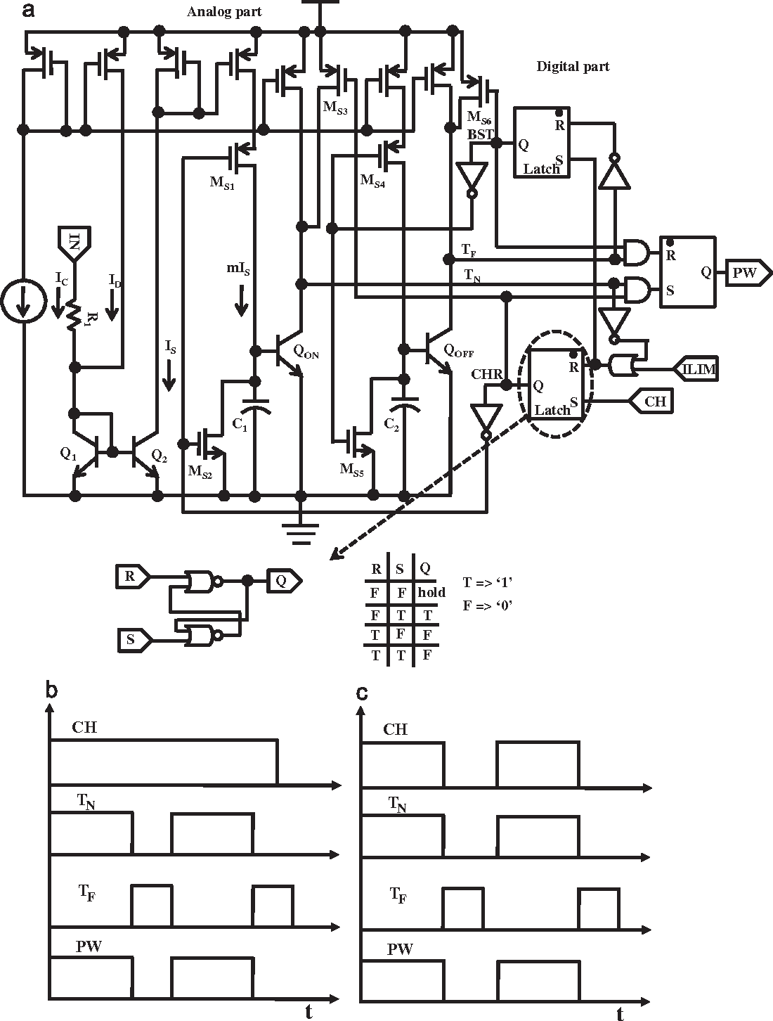 Figure 8 From Design And Implementation Of A 08 V Input 84 Duty T Latch Circuit Diagram The Overall Time Generator Block Schematic