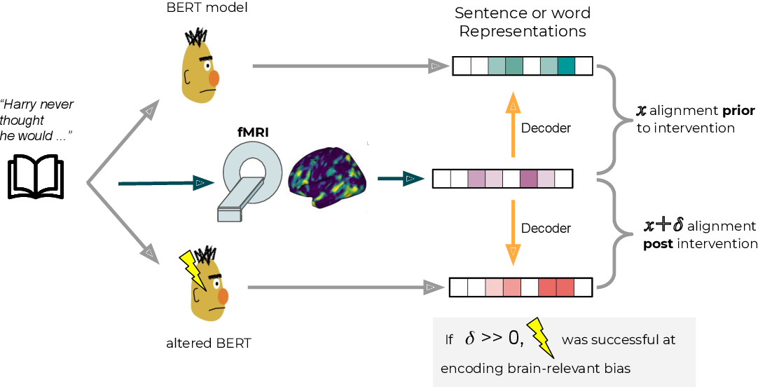 Figure 1 for Does injecting linguistic structure into language models lead to better alignment with brain recordings?