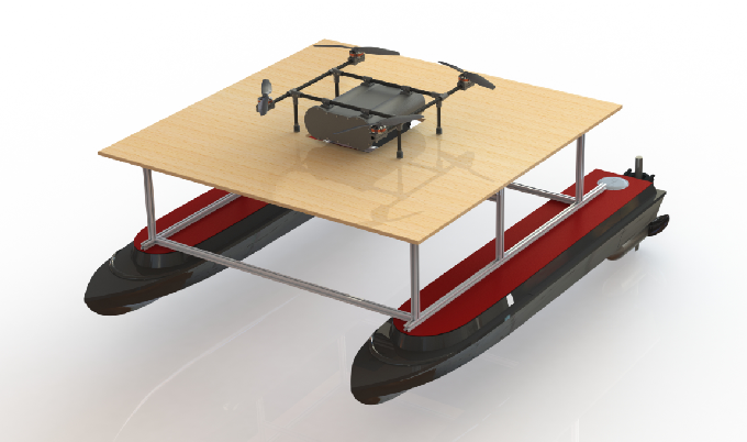 Figure 1 for Design, Integration and Sea Trials of 3D Printed Unmanned Aerial Vehicle and Unmanned Surface Vehicle for Cooperative Missions