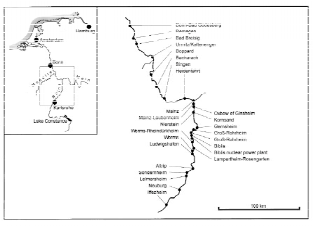 Figure 1. The collecting sites