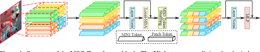 Figure 1 for MSG-Transformer: Exchanging Local Spatial Information by Manipulating Messenger Tokens