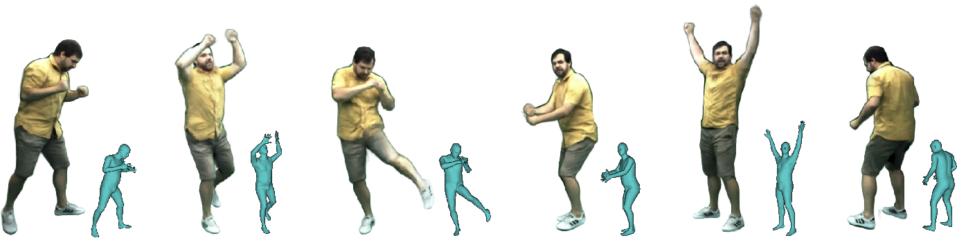 Figure 1 for Neural Actor: Neural Free-view Synthesis of Human Actors with Pose Control