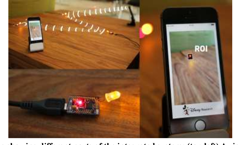 Connecting networks of toys and smartphones with visible light