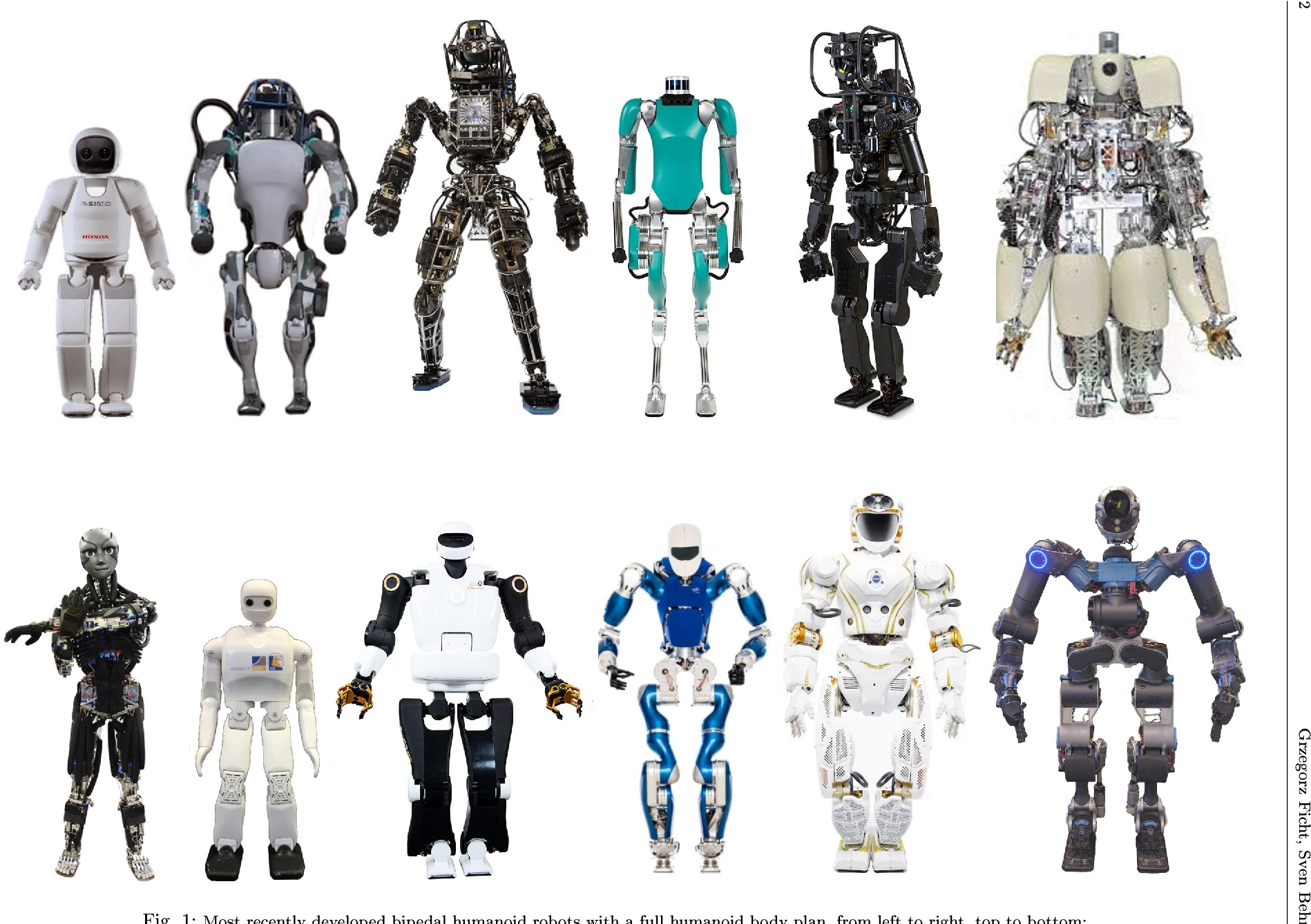 Figure 1 for Bipedal Humanoid Hardware Design: A Technology Review