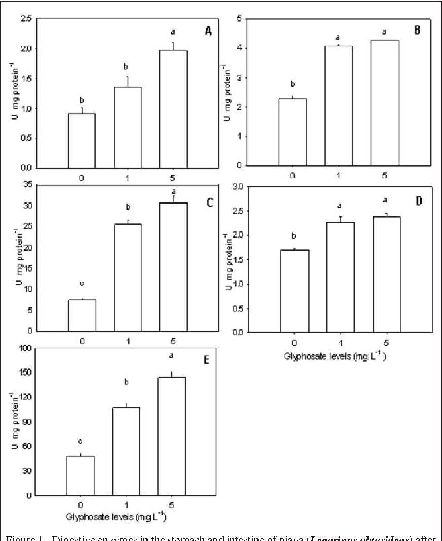Figure 1 From Glyphosate On Digestive Enzymes Activity In Piava
