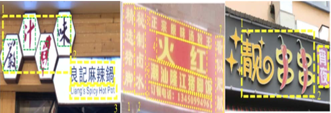 Figure 1 for ICDAR 2019 Robust Reading Challenge on Reading Chinese Text on Signboard