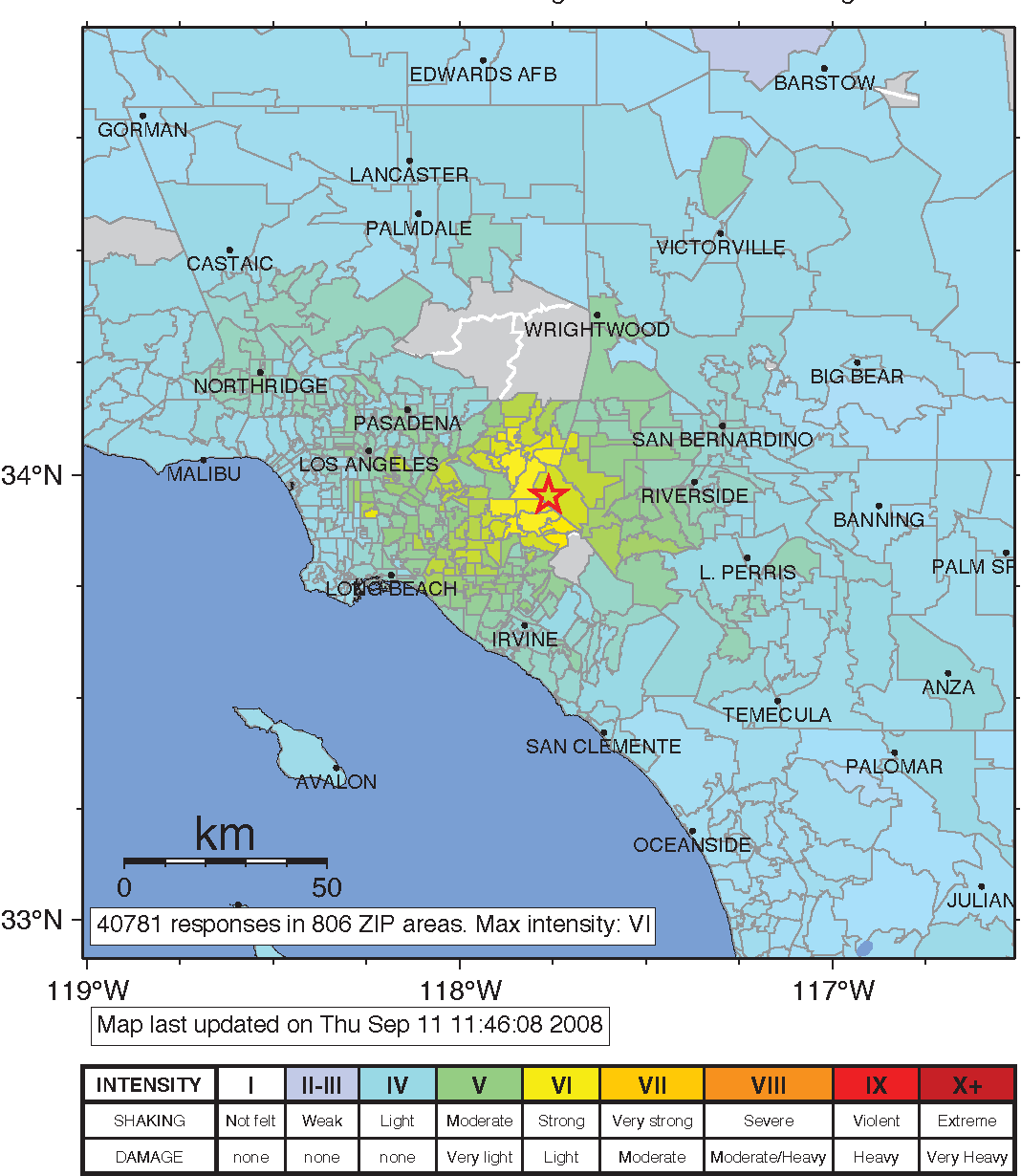 Chino Hills Map on