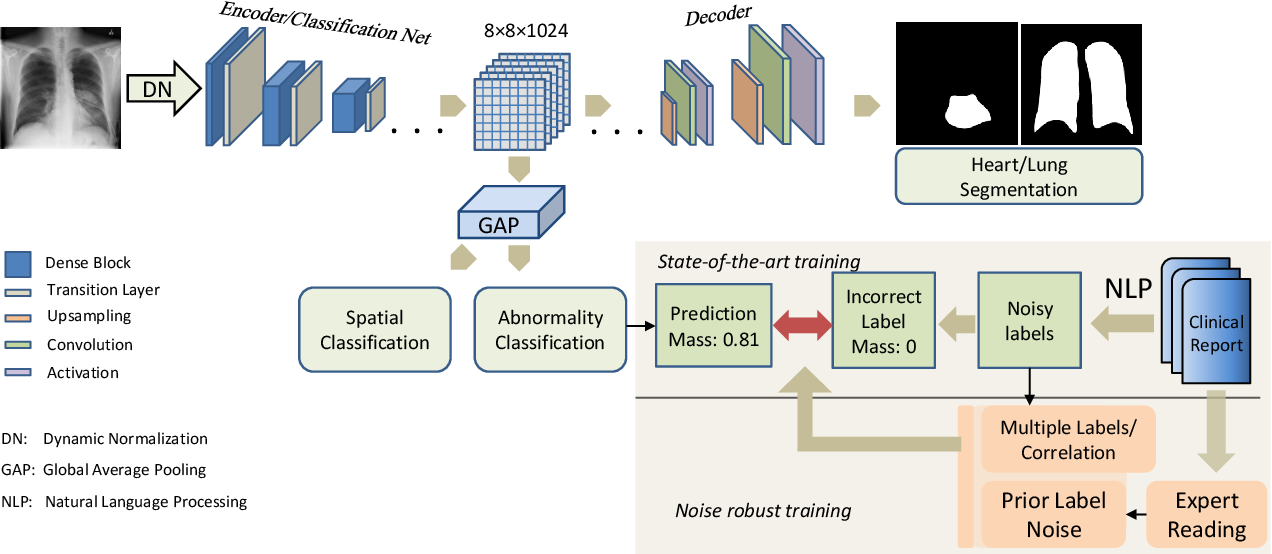 Figure 1 for Robust Classification from Noisy Labels: Integrating Additional Knowledge for Chest Radiography Abnormality Assessment