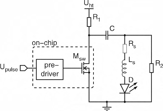 Figure 2 from An integrated 10A, 2.2ns rise-time laser-diode driver