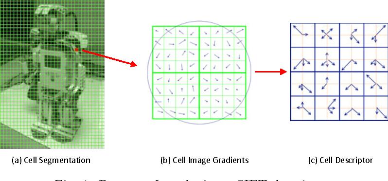 1 Process Of Producing A SIFT Descriptor
