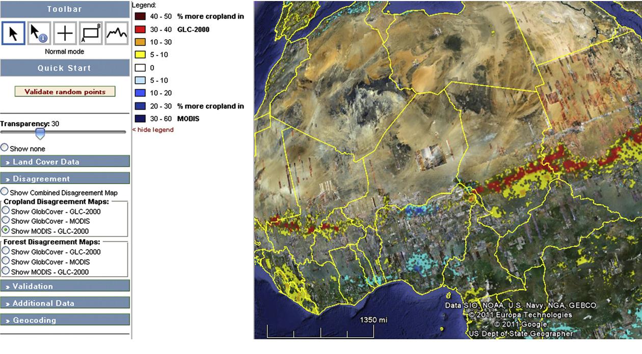 Geo-Wiki: An online platform for improving global land cover
