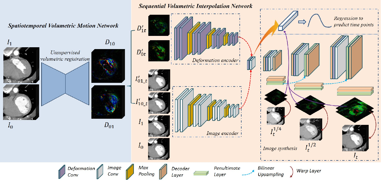 Figure 3 for A Spatiotemporal Volumetric Interpolation Network for 4D Dynamic Medical Image