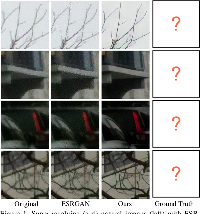 Figure 1 for Unsupervised Learning for Real-World Super-Resolution