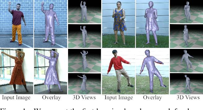 Figure 1 for DeepCap: Monocular Human Performance Capture Using Weak Supervision