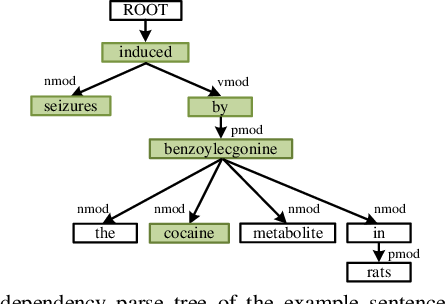 Figure 1 for Chemical-induced Disease Relation Extraction with Dependency Information and Prior Knowledge