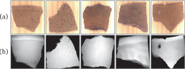Figure 1 for Curve-Structure Segmentation from Depth Maps: A CNN-based Approach and Its Application to Exploring Cultural Heritage Objects